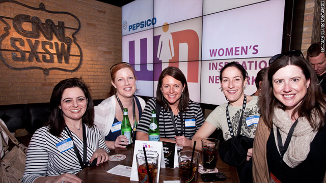 Participants gathered at the CNN Grill in Austin, Texas, for Digitini, an afternoon reception for women in technology fields.