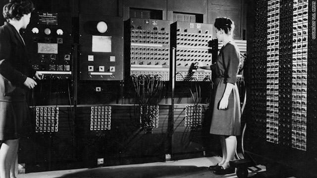 Jean Jennings Bartik, left, worked with Frances Bilas Spence and other women to program the ENIAC around 1946.