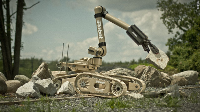 The Warrior worker robot can traverse rubble and wreckage, climb stairs and carry loads of up to 200 pounds.