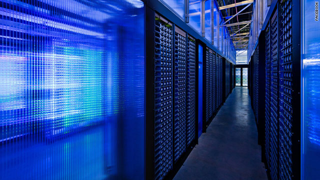 New servers at Facebook's Prineville, Oregon, server farm are 31% more energy efficient than the company's old ones.