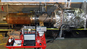 "Laberge designed this giant piston -- or ""glorified jackhammer"" -- as part of a planned fusion reactor."