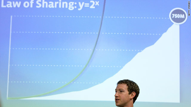 Facebook's Mark Zuckerberg turned to equations and graphs before announcing a new partnership with Skype.