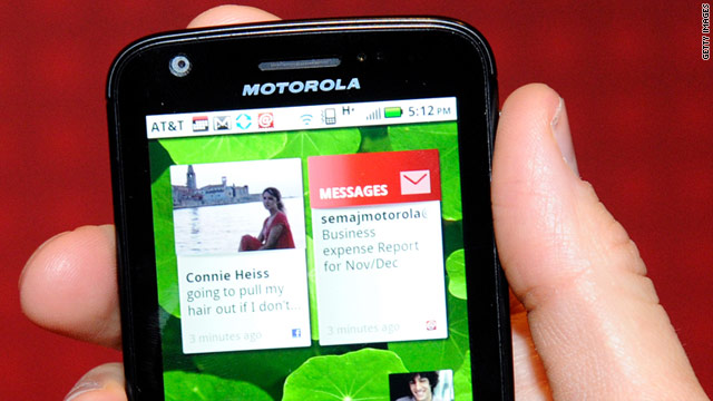 Motorola's Atrix 4G is among the upcoming Android phones for AT&T that will have the Mobile Hotspot feature.