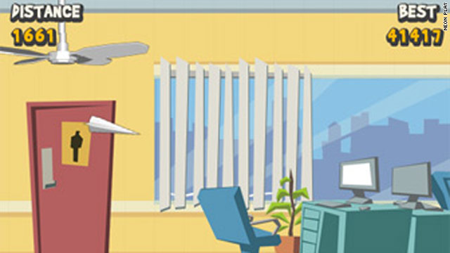 """Paper Glider,"" a game that lets players make and fling paper airplanes in the office, was the App Store's 10 billionth download."