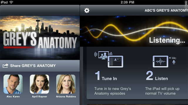 "The ""Grey's Anatomy"" app offers polls, trivia, behind-the-scenes info and video and photo galleries."