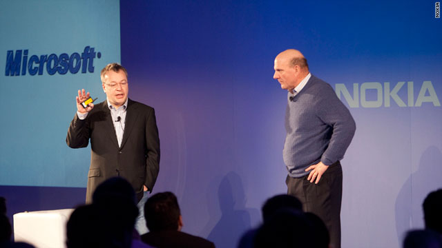 Nokia CEO Stephen Elop, left, and Microsoft CEO Steve Ballmer will formally announce a partnership on Friday.
