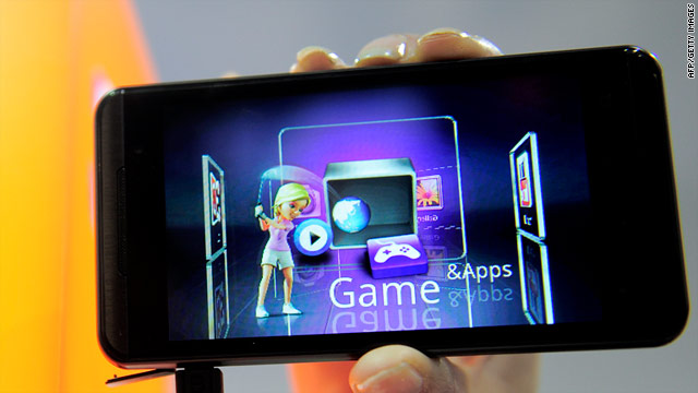 LG's Optimus 3D smartphone can display images in 3-D without the need for special glasses.