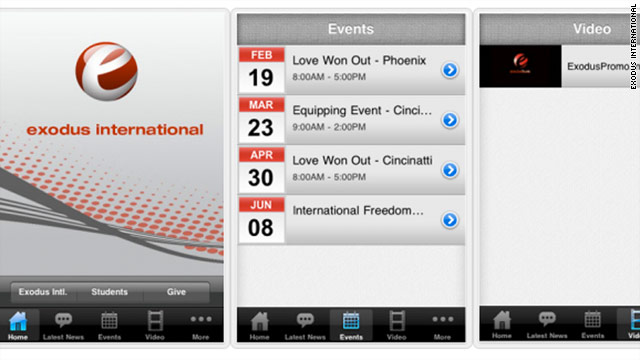 The app is like a portable version of Exodus International's website.