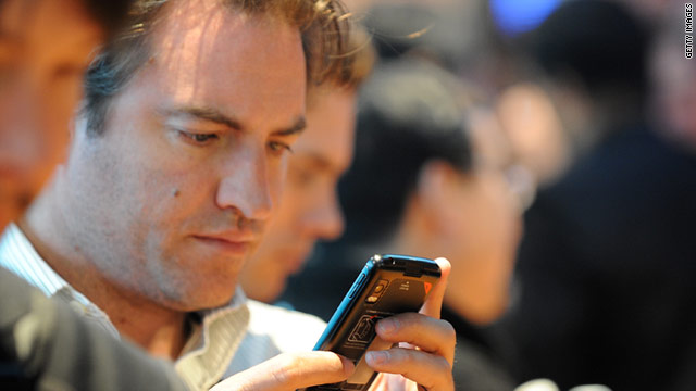 American cell phone users increasingly check their bank, credit card and other financial accounts through mobile apps.