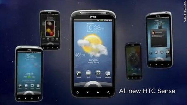 The HTC Sensation 4G, unveiled on Tuesday, features an updated version of the multimedia system Sense.