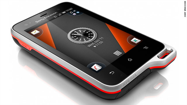 The Xperia Active, Sony Ericsson's recently announced smartphone, is built to withstand the elements.
