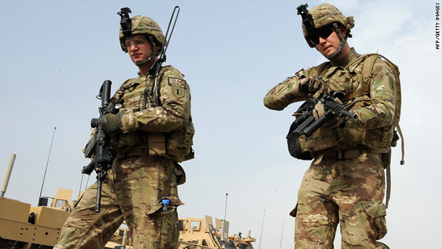 The drawdown of U.S. troops in Afghanistan begins this year, but remaining soldiers overseas may get smartphones.