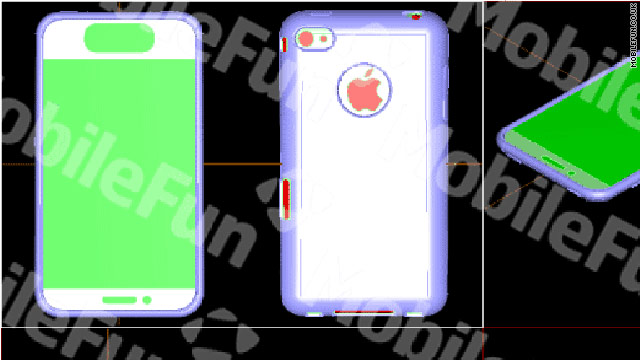 Are these designs for cases to hold the next iPhone? A British tech blog says they appear to be.