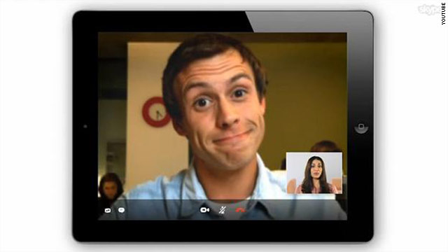iPad 2 users can use the tablet's front-facing camera for video calls or its rear camera to show their surroundings.