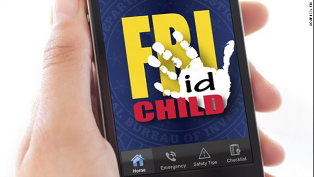The FBI's first-ever smartphone app has buttons for calling 911 or the national missing children hotline.