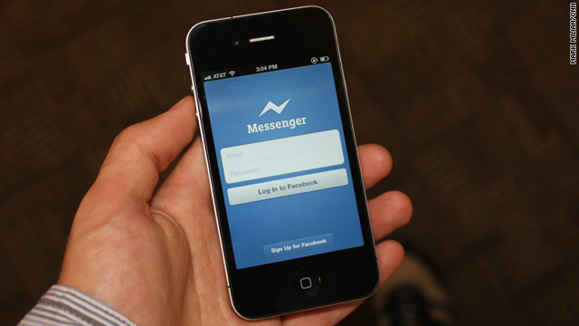 Facebook released a texting app on Tuesday called Messenger for iPhone and Android.