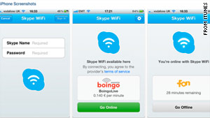 The Internet phone giant launched &quot;Skype WiFi,&quot;  an app that allows you to pay for Wi-Fi by the minute.