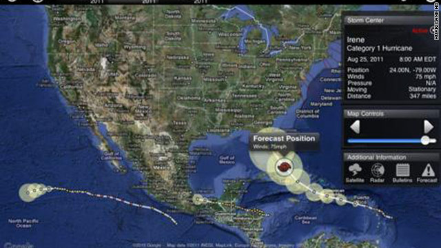 Hurricane HD, for the iPad, is one of several mobile apps designed to help track storms.