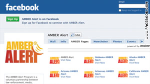 The AMBER alert system, used by law enforcement and broadcasters, is now available on Facebook.