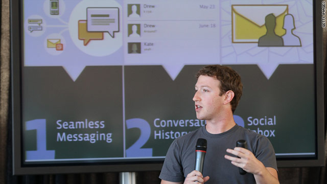 Facebook CEO Mark Zuckerberg announced the new Messages product in November.