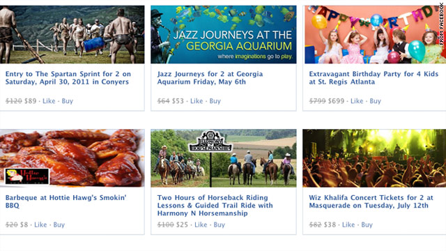 Facebook Deals, a Groupon competitor, launched on Tuesday in five pilot cities.