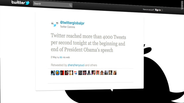 When President Obama spoke about Osama bin Laden's death Sunday, it was an hour of unprecedented tweeting.