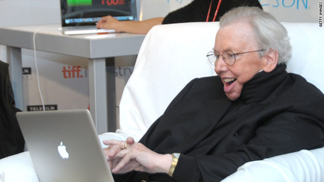 Famed critic Roger Ebert, who can't speak unassisted since surgery for jaw cancer, is an active Twitter user.