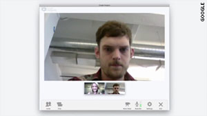 A video chat feature called Hangouts is a key component of Google+, a new social network.