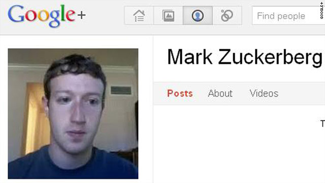 Facebook's Mark Zuckerberg joined competitor Google+ and so far has become its most popular user.