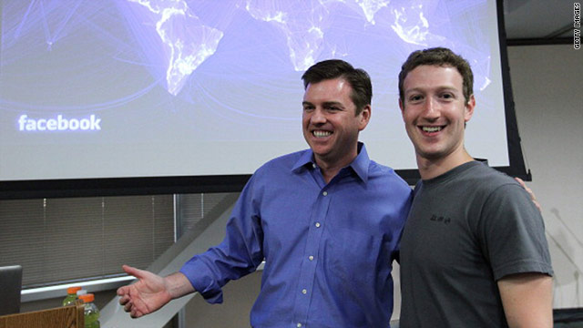 Skype CEO Tony Bates, left, says he considers his alliance with Facebook as &quot;the most important strategic relationship.&quot;
