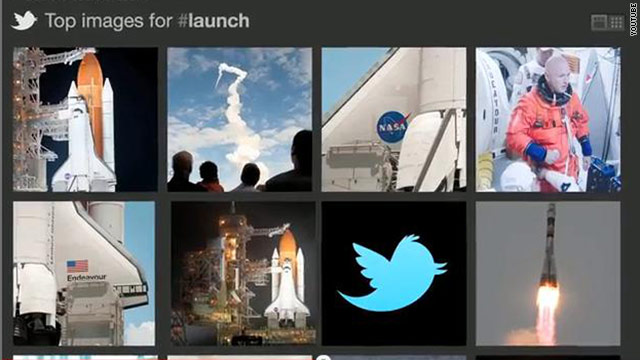 Twitter's photo tool will let users search for top-ranked images and videos associated with a particular hashtag.