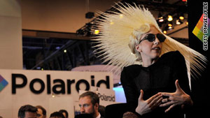 Lady Gaga at CES 2010 in her new role as Polaroid's creative director.