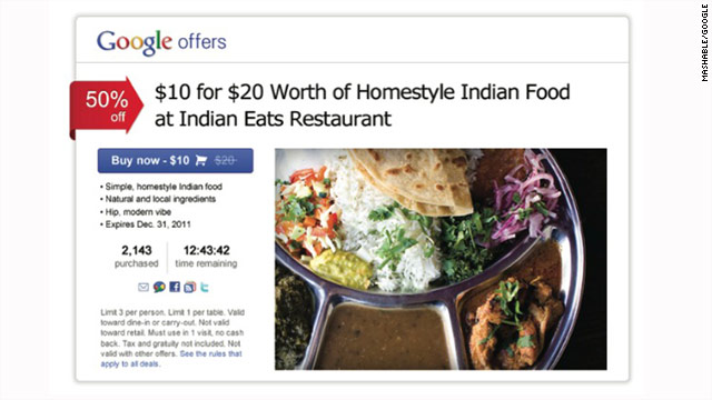 Google Offers is designed to help potential customers find great deals in their area, a fact sheet says.