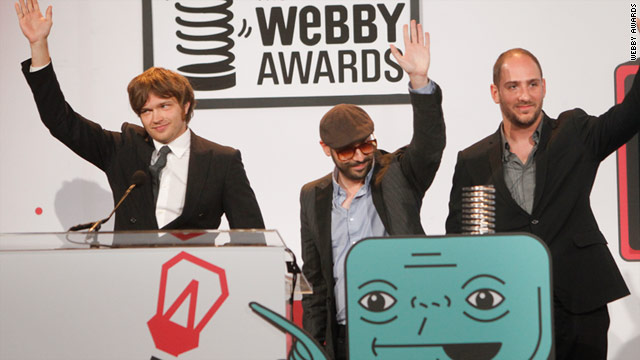 The band OK Go received the 2010 Webby Award for film and video. This year's winners will be announced May 3.