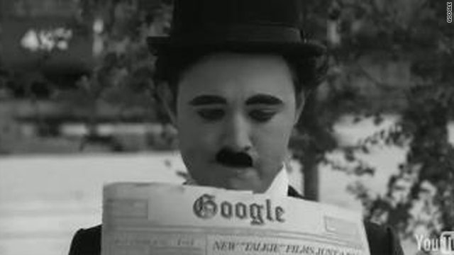 Google Doodle team member Mike Dutton portrays Charlie Chaplin in a tribute video posted on the site's search page.