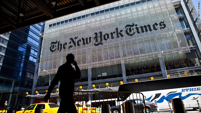 The New York Times says it sold 100,000 digital subscriptions last month at a time when its business has been struggling.