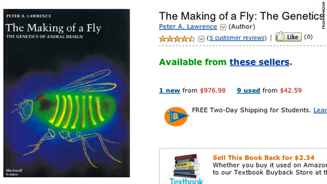 An independent seller apparently listed the book &quot;The Making of a Fly&quot; for more than $23 million last week.