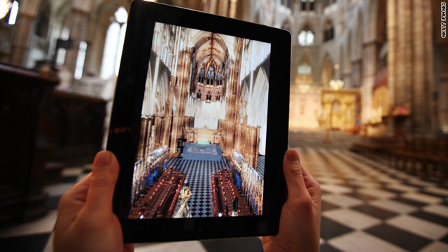 A 3-D mobile app for Apple and Android devices is a guide to Westminster Abbey, where Friday's royal wedding will be held.