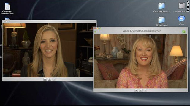 "Lisa Kudrow's ""Web Therapy"" (here with Meryl Streep) won Webbys for best comedy: long form and best performance."