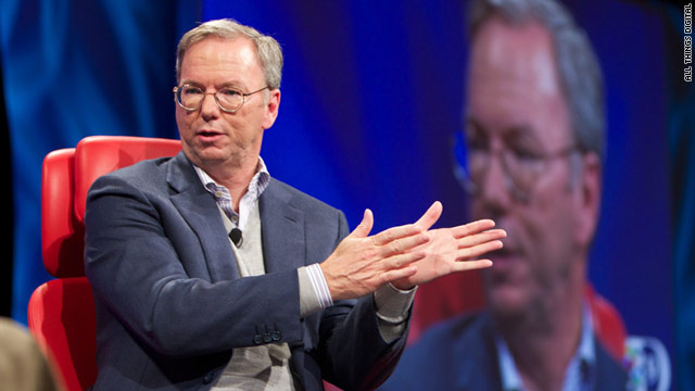 Google Executive Chairman Eric Schmidt discussed topics, including privacy and competitiors, at the All Things Digital conference.
