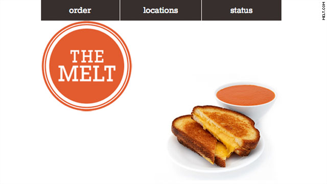 Back-end software ensures that you get a piping hot grilled cheese in your hands within 60 seconds of checking in.