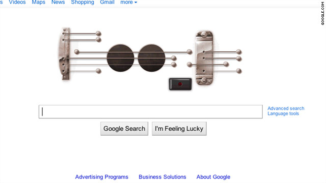 Thursday's doodle allowed users to record 30-second songs in honor of electric-guitar guru Les Paul's 96th birthday.