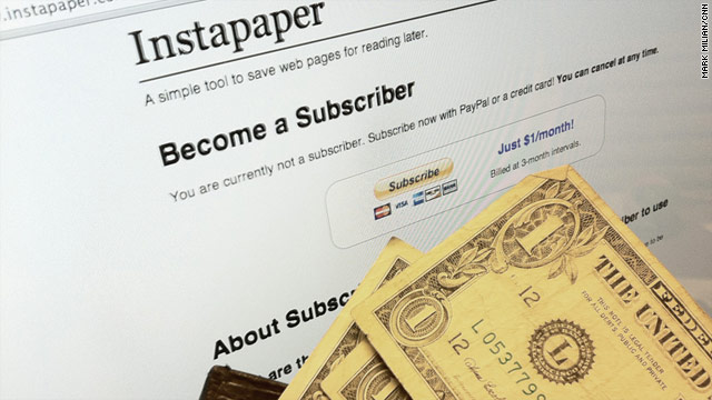 Instapaper, a popular app for saving Web articles for offline reading, offers subscriptions but gives little in return.
