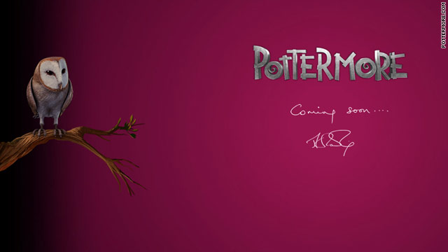 "The site Pottermore.com launched Thursday with a single teaser page featuring two owls and the words, ""Coming soon ... ."""