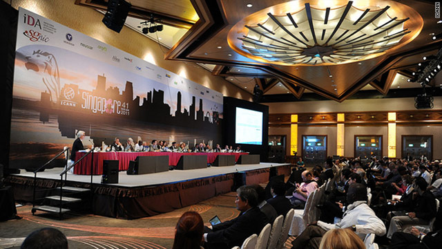 ICANN, the group that monitors Web addresses, voted Monday in Singapore to expand domain-name ending options.