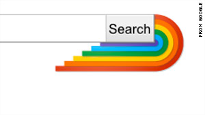 "If you Google terms like ""gay"" or ""homosexuality"" this month, a rainbow pops up by the search bar."