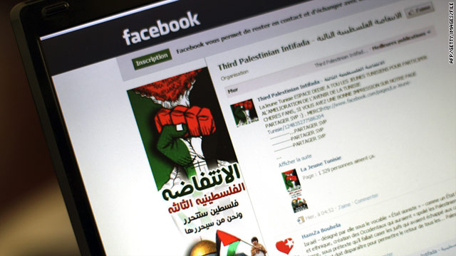 "A ""3rd Palestinian Intifada"" Facebook page was removed a month ago after an Israeli government campaign."