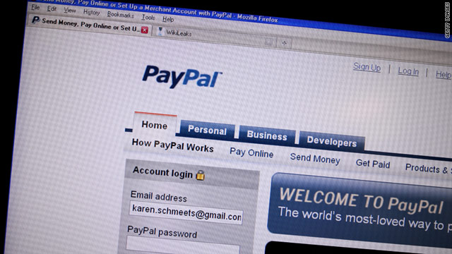 Hacker collective Anonymous slams PayPal for shutting down donations to whistleblower site WikiLeaks.