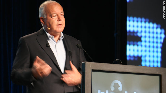 Counterterrorism expert Cofer Black speaks at a cybersecurity conference in Las Vegas on Wednesday