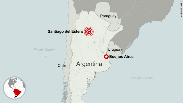 Strong quake rattles Argentina